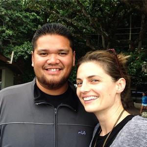 Stana and a fan(November,2014)