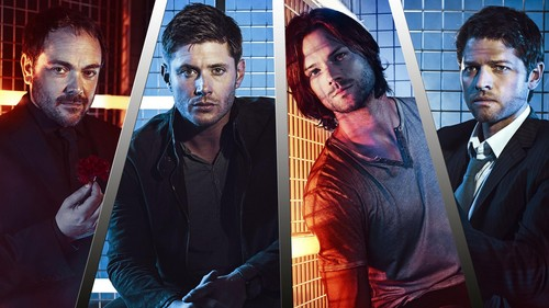 Supernatural wallpaper probably with a holding cell entitled Supernatural Cast