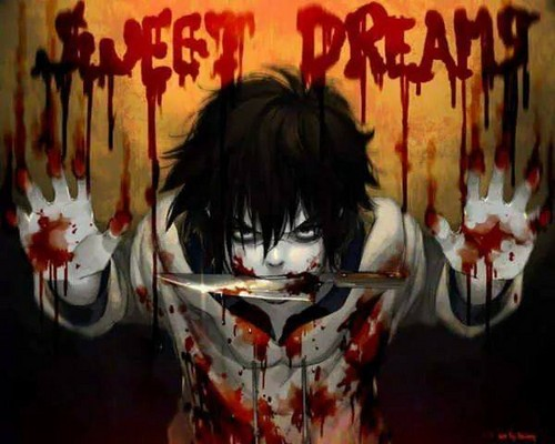 Jeff the killer Обои probably containing a frosted layer cake titled Sweet dreams