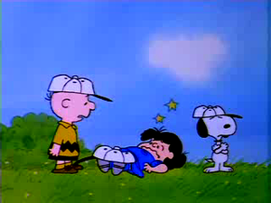 The Charlie Brown and Snoopy tunjuk
