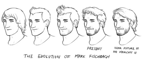 Markiplier karatasi la kupamba ukuta titled The Evolution of Mark Fischbach