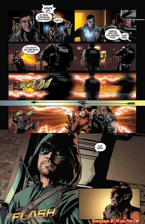 The Flash - Episode 1.08 - Flash vs. Arrow - Comic anteprima