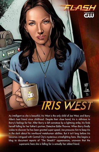The Flash (CW) fond d'écran with animé and a newspaper titled The Flash - Iris West