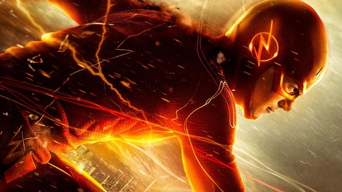 The Flash CW Wallpaper With A Fire And Entitled