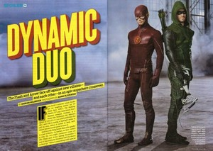 The Flash and Mũi tên xanh - Magazine Scans