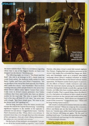 The Flash and অনুষ্ঠান- অ্যারো - Magazine Scans
