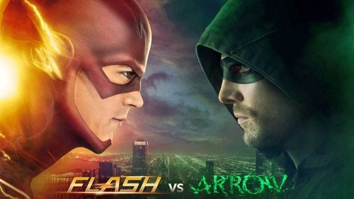 The Flash (CW) wallpaper entitled The Flash vs. Arrow