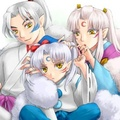 The Fluffy Family もこもこ一家    - inuyasha fan art