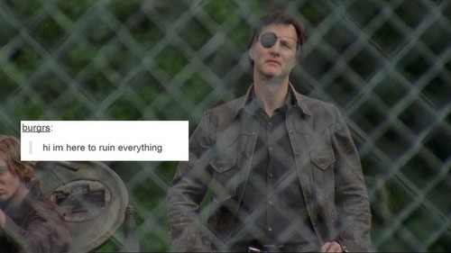 The Walking Dead kertas dinding containing a chainlink fence entitled The Walking Dead | Tumblr Text Post - The Governor