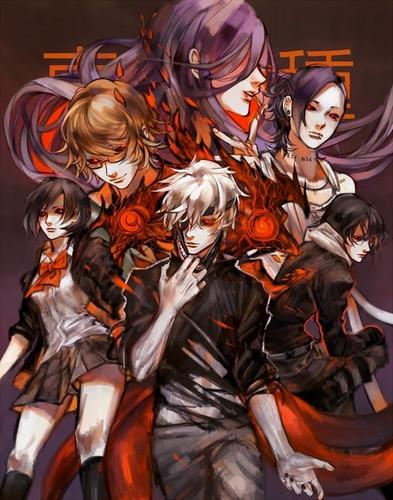 Tokyo Ghoul karatasi la kupamba ukuta containing anime called Tokyo Ghoul