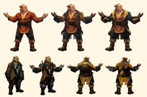 Varric concept art in The Art of Dragon Age: Inquisition