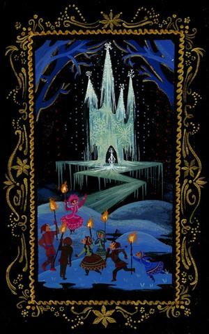 "Visual Development sa pamamagitan ng Lorelay Bové for ""Snow Queen"" before it became ""Frozen"""