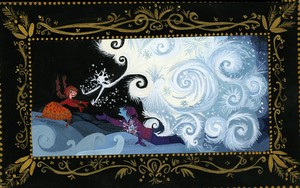 "Visual Development bởi Lorelay Bové for ""Snow Queen"" before it became ""Frozen"""