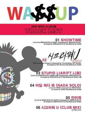 Wassup's 와썹 সেকেন্ড Mini Album Track তালিকা