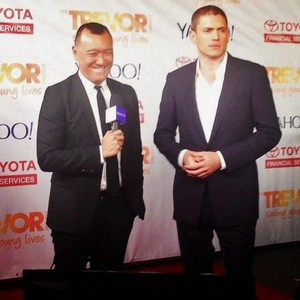 Wentworth Miller makes first red carpet appearance in Mehr than four years!