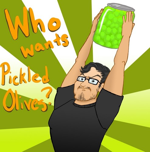 Markiplier karatasi la kupamba ukuta called Who Wants Pickled Olives | To The Moon