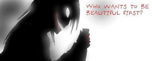 Jeff the killer Обои probably containing a пылесос, гувер entitled Who wants to be beautiful