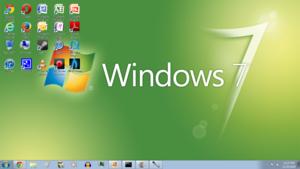 Windows 7 Green Screenshot 1366x768