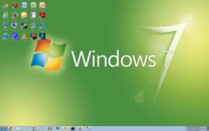 Windows 7 Green Screenshot 1680x1050