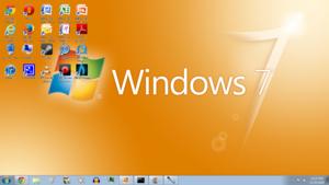 Windows 7 مالٹا, نارنگی Screenshot 1366x768
