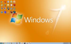 Windows 7 مالٹا, نارنگی Screenshot 1680x1050