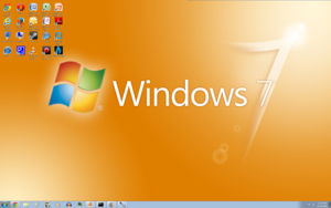 Windows 7 مالٹا, نارنگی Screenshot 1920x1200