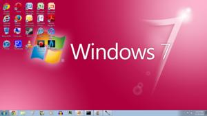 Windows 7 گلابی Screenshot 1366x768