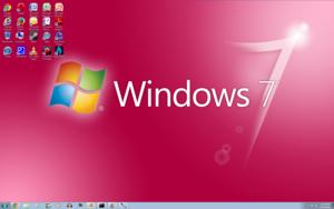 Windows 7 گلابی Screenshot 1920x1200