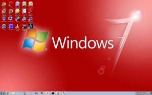 Windows 7 Red Screenshot 1680x1050