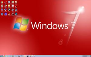 Windows 7 Red Screenshot 1920x1200