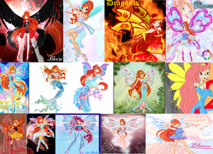 Winx Club Bloom Mash Up Wallpaper