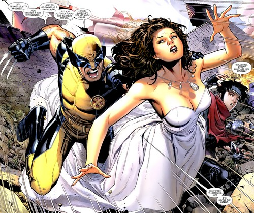 X-Men wallpaper containing anime called Wolverine And Scarlet Witch
