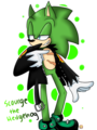 Ya lookin' at me? - scourge-the-hedgehog fan art