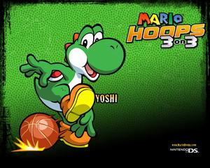 Yoshi Mario Hoops 3-on-3 Background