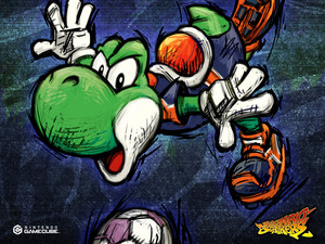 Yoshi Super Mario Strikers Background