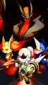 Yvetal and Chesnaught, Delphox, Greninja