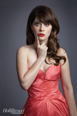 Zooey Deschanel// Hollywood Reporter