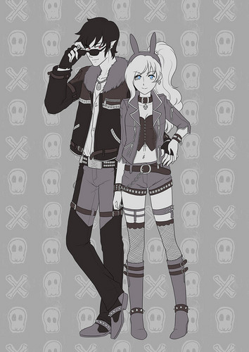 fiolee (fionna e marshal lee) wallpaper possibly containing animê called biker outfits