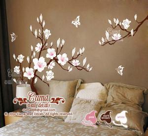 cerise blossom papillon mur sticker material vinly mur sticker