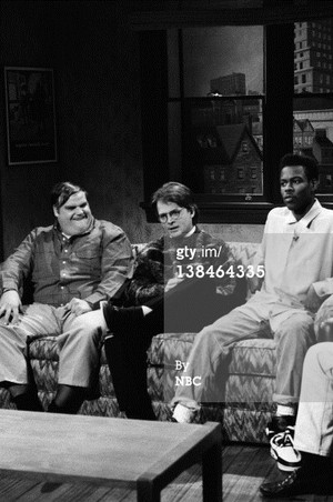 chris farley, chris rock, and michael j fuchs