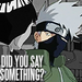 did you say something, kakashi ~rottencookie