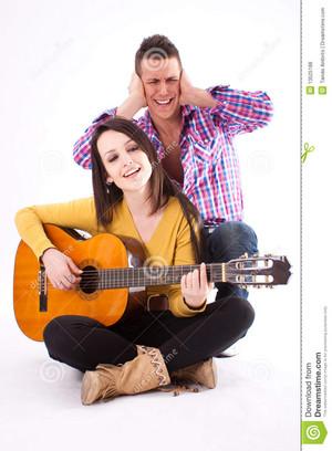 violão, guitarra couple