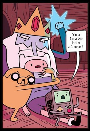 hey Ice king leave Him!!!!!!