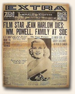 jean harlow death news