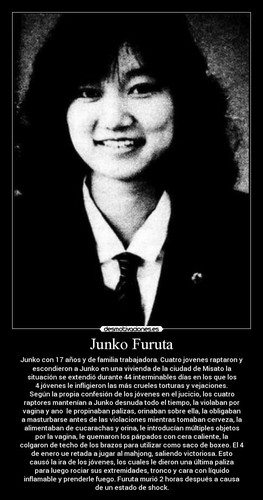 beroemdheden who died young achtergrond called junko Furuta (November 22, 1972 – January 4, 1989)