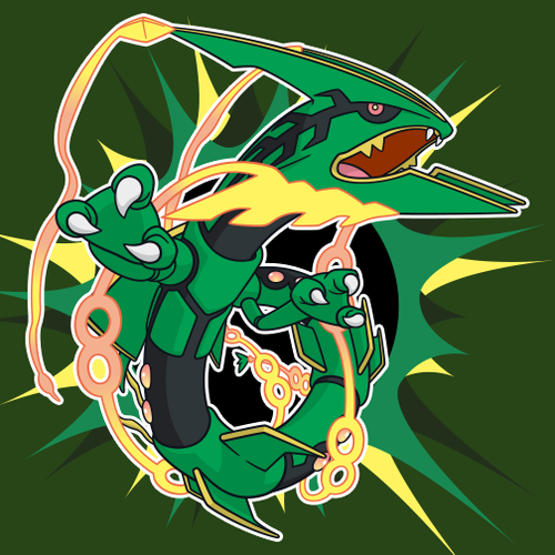 pokemon wallpaper with anime titled mega Rayquaza