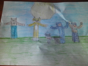 my stampy and friends PIC !!!