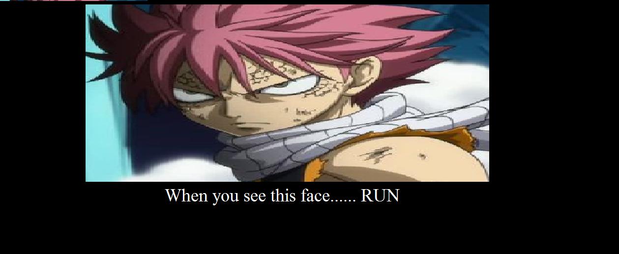 natsu angry