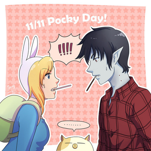 fiolee (fionna e marshal lee) wallpaper with animê entitled pocky dia 14