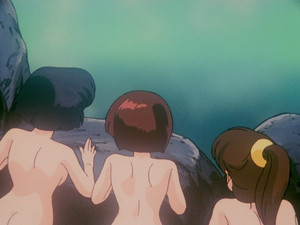 ranma 1 2 tendou sisters (from behind) Akane, Nabiki, and Kasumi (listed from left to right)